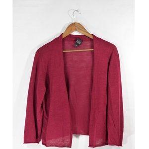 Eileen Fisher Cranberry Linen Cardigan